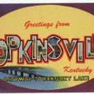HOPKINSVILLE, Kentucky large letter linen postcard Teich