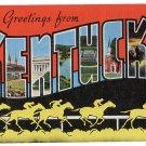 KENTUCKY large letter linen postcard Kropp