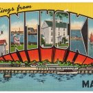 NANTUCKET, Massachusetts large letter linen postcard Eastern Photo