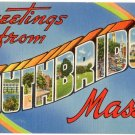 SOUTHBRIDGE, Massachusetts large letter linen postcard Tichnor