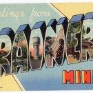 BRAINERD, Minnesota large letter linen postcard Teich