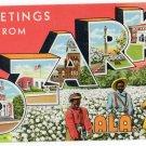 OZARK, Alabama large letter linen postcard Teich