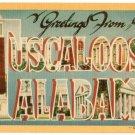 TUSCALOOSA, Alabama large letter linen postcard Dexter