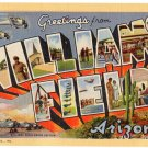 WILLIAMS FIELD, Arizona large letter linen postcard Teich
