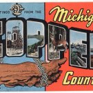 Michigan COPPER COUNTRY large letter linen postcard Kropp