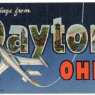 DAYTON, Ohio large letter linen postcard Teich