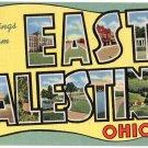 EAST PALESTINE, Ohio large letter linen postcard Teich