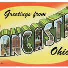LANCASTER, Ohio large letter postcard Teich