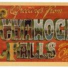 CUYAHOGA FALLS, Ohio large letter linen postcard Dexter