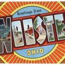 WOOSTER, Ohio large letter linen postcard Kropp