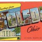TOLEDO, Ohio large letter linen postcard Kropp