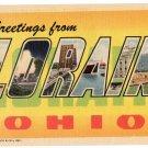 LORAIN, Ohio large letter postcard Teich