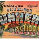 FLEXIBLE GUNNERY SCHOOL, Florida large letter linen postcard Teich