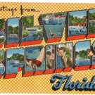 SILVER SPRINGS, Florida large letter linen postcard Eastern Photo