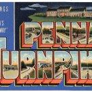 PENNA. TURNPIKE, Pennsylvania large letter linen postcard Teich