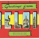 BELOIT, Wisconsin large letter linen postcard Kropp