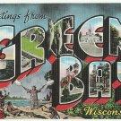 GREEN BAY, Wisconsin large letter linen postcard Kropp