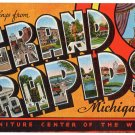 GRAND RAPIDS, Michigan large letter linen postcard Kropp