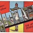 MICHIGAN large letter linen postcard Kropp