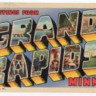 GRAND RAPIDS, Minnesota large letter linen postcard Teich