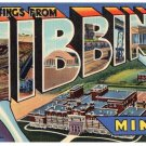 HIBBING, Minnesota large letter linen postcard Teich
