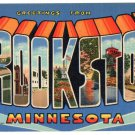 CROOKSTON, Minnesota large letter linen postcard Teich