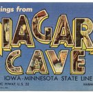 NIAGARA CAVE, Minnesota large letter linen postcard Teich