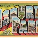 ASBURY PARK, New Jersey large letter linen postcard Teich