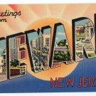 NEWARK, New Jersey large letter linen postcard Tichnor