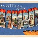 KEANSBURG, New Jersey large letter linen postcard Tichnor