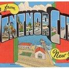 VENTNOR CITY, New Jersey large letter linen postcard Kropp