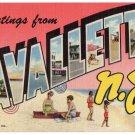 LAVALLETTE, New Jersey large letter linen postcard Teich