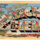 MARCH FIELD, California large letter linen postcard Teich