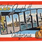 CAMP PENDLETON, California large letter linen postcard Kropp