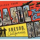 BASIC TRAINING CENTER, California large letter linen postcard Kropp