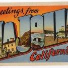 LA JOLLA, California large letter linen postcard Eastern Photo