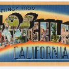 LOS ANGELES, California large letter linen postcard Tichnor