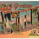 LOS ANGELES, California large letter linen postcard Metropolitan
