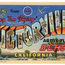 VICTORVILLE ARMY FLYING SCHOOL, California large letter linen postcard Teich