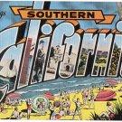 SOUTHERN CALIFORNIA large letter linen postcard Kropp