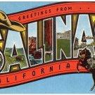 SALINAS, California large letter linen postcard Kropp