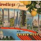 CALIFORNIA large letter postcard Metropolitan