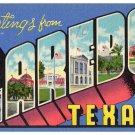 LAREDO, Texas large letter linen postcard Beals