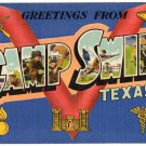 CAMP SWIFT, Texas large letter linen postcard Colourpicture