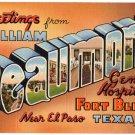 BEAUMONT, Texas large letter linen postcard Teich