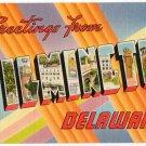 WILMINGTON, Delaware large letter linen postcard Tichnor