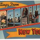 BROOKLYN, New York large letter linen postcard Colourpicture