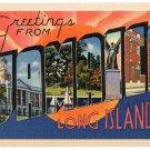 JAMAICA, New York large letter linen postcard Tichnor
