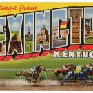 LEXINGTON, Kentucky large letter postcard Teich