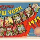 NEW YORK WORLD'S FAIR large letter linen postcard Metropolitan